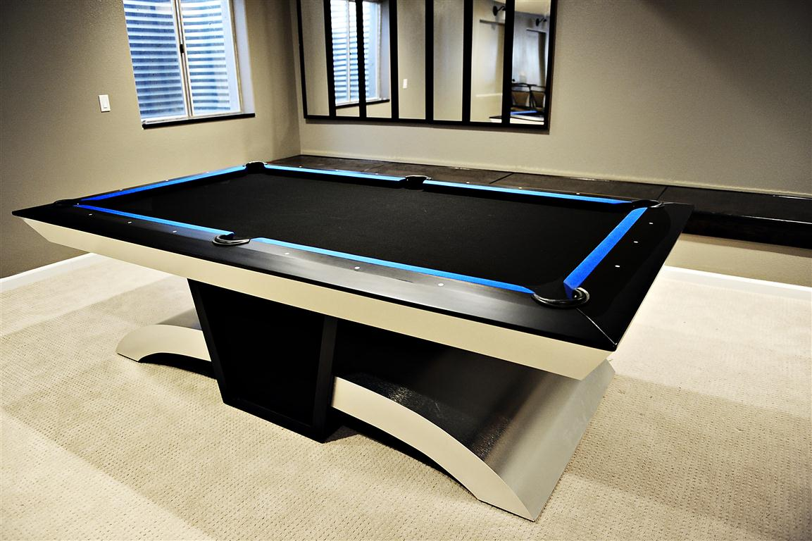 Custom Metal Modern Contemporary Pool Table For Sale Denver Colorado Email  Eldeen At Info@eldeenannette.com. Serious Inquiries Only.