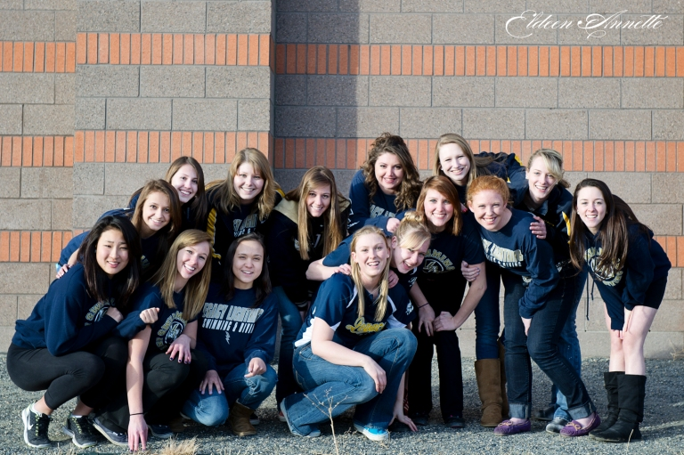 Legacy High School Swim team photography broomfield co