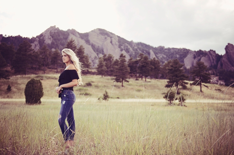 Flatirons Senior Portraits Boulder Colorado